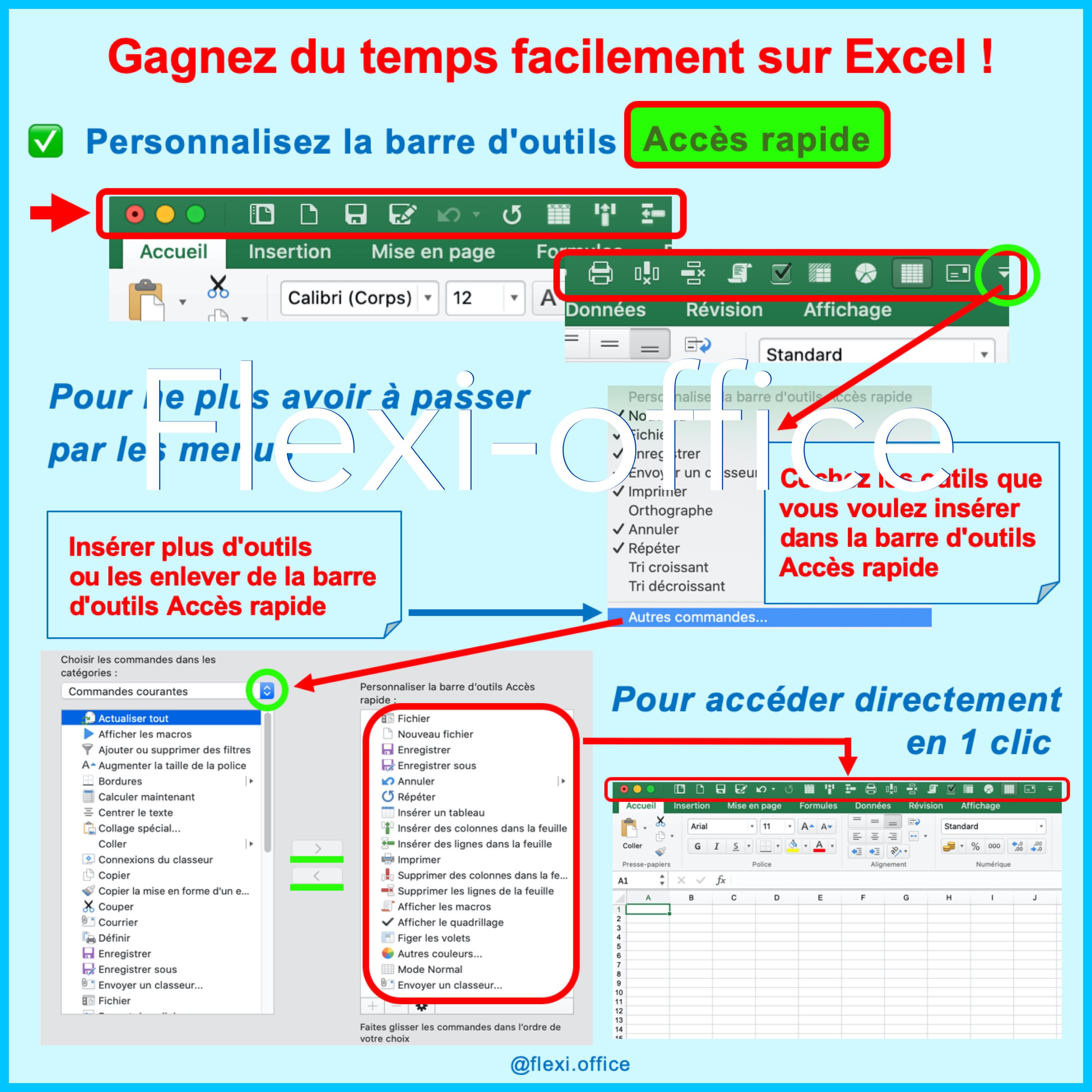 Excel barre d outil accès rapide